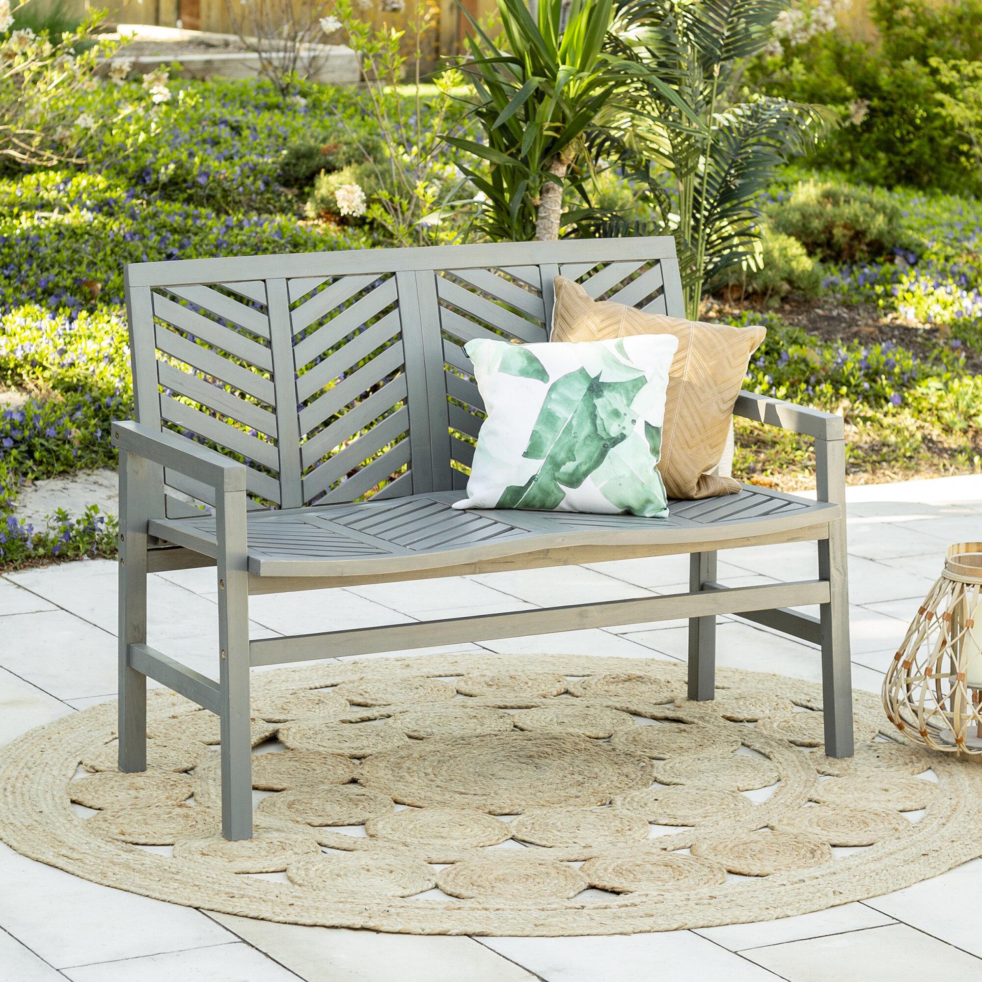 Skoog Chevron Wooden Garden Bench With Regard To Skoog Chevron Wooden Garden Benches (View 3 of 25)
