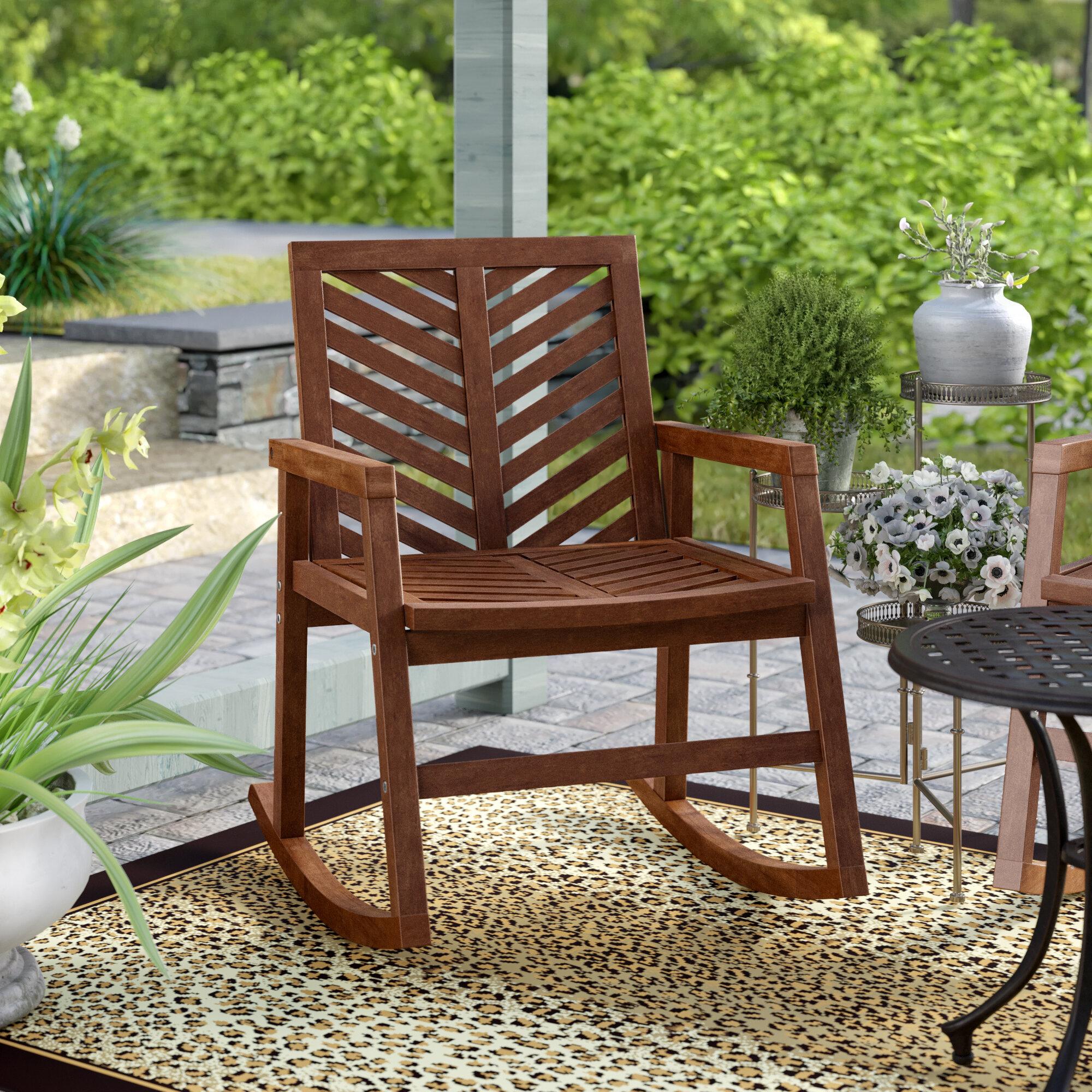 Skoog Outdoor Chevron Rocking Chair Intended For Skoog Chevron Wooden Garden Benches (View 17 of 25)