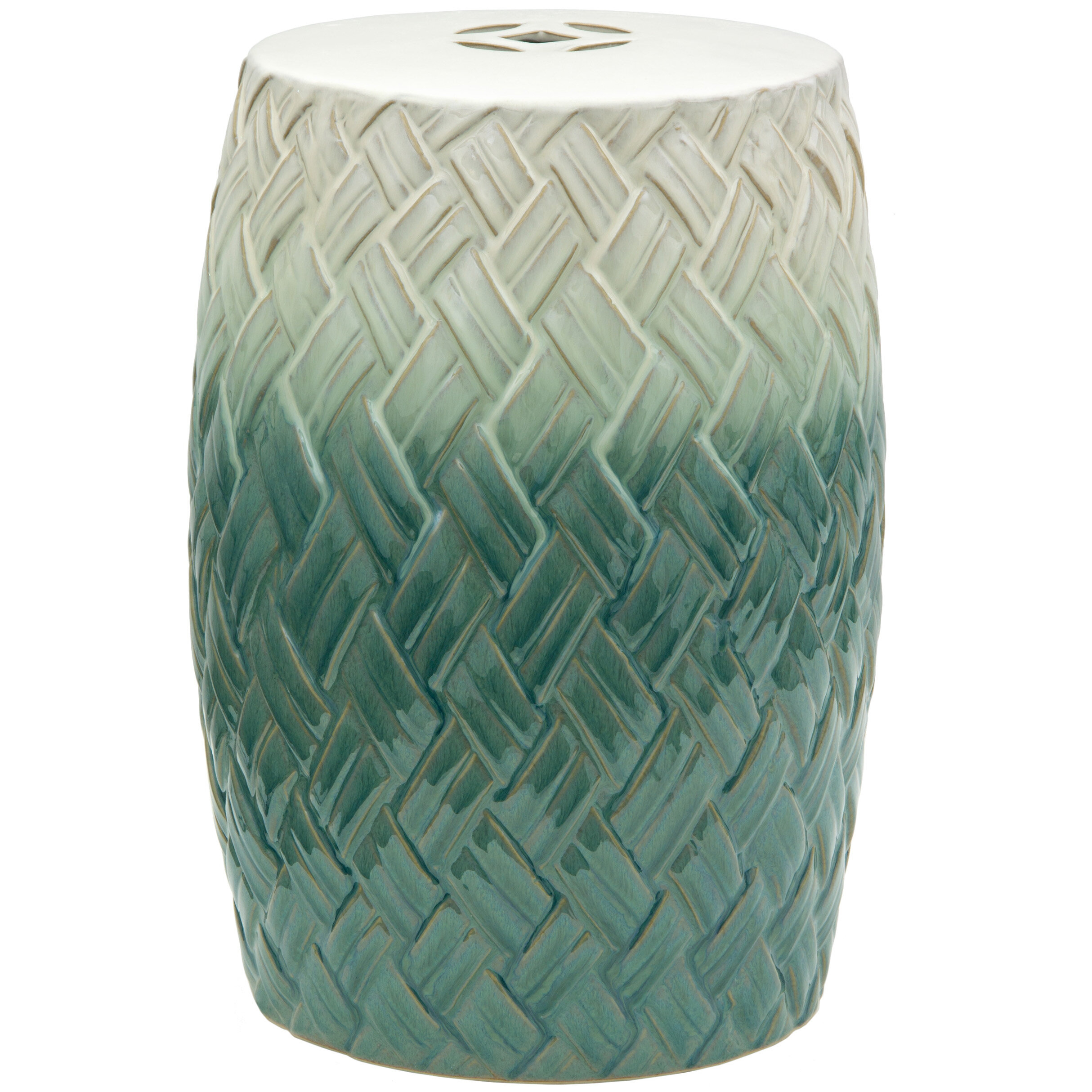 Sobieski Woven Design Porcelain Garden Stool For Horsforth Garden Stools (View 5 of 25)
