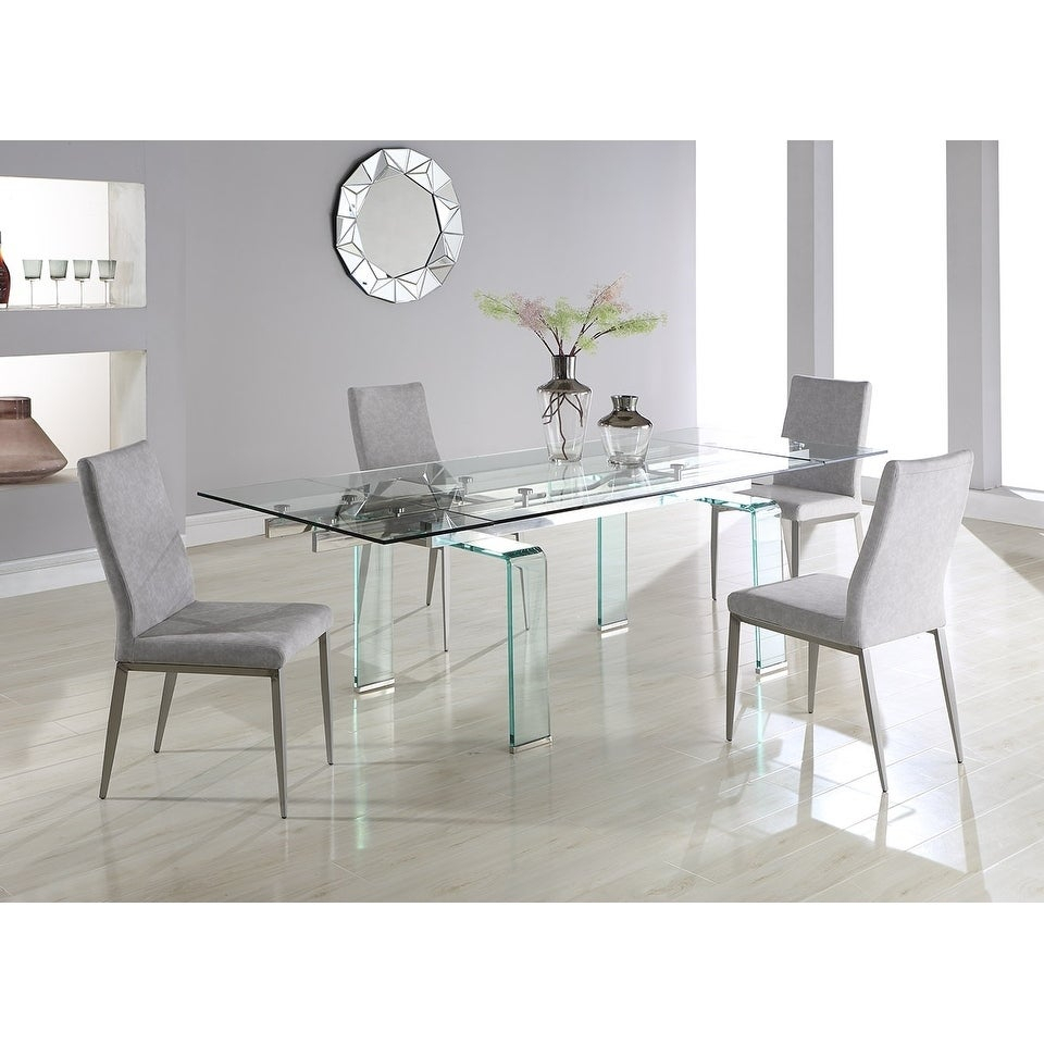 Somette Madeline Rectangular Dining Table With Folding Glass Extension (View 20 of 25)