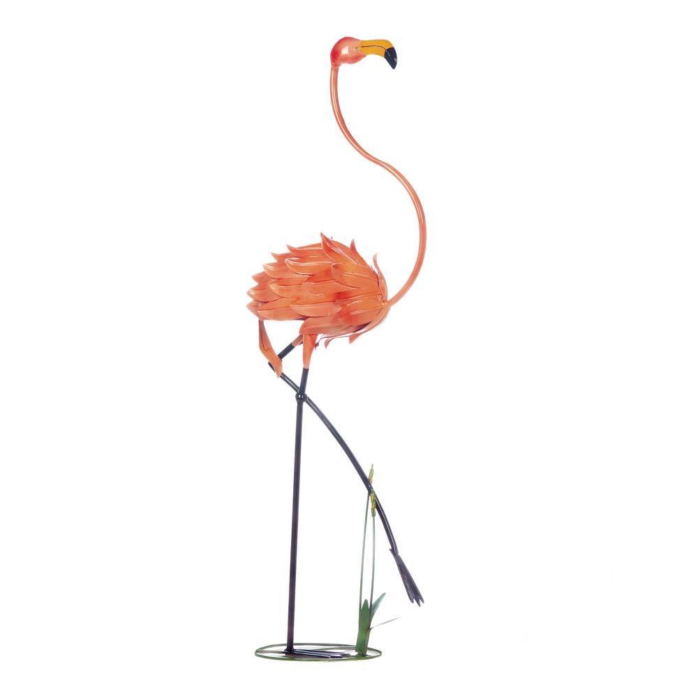 Standing Flamingo Garden Decor Throughout Flamingo Metal Garden Benches (View 25 of 25)