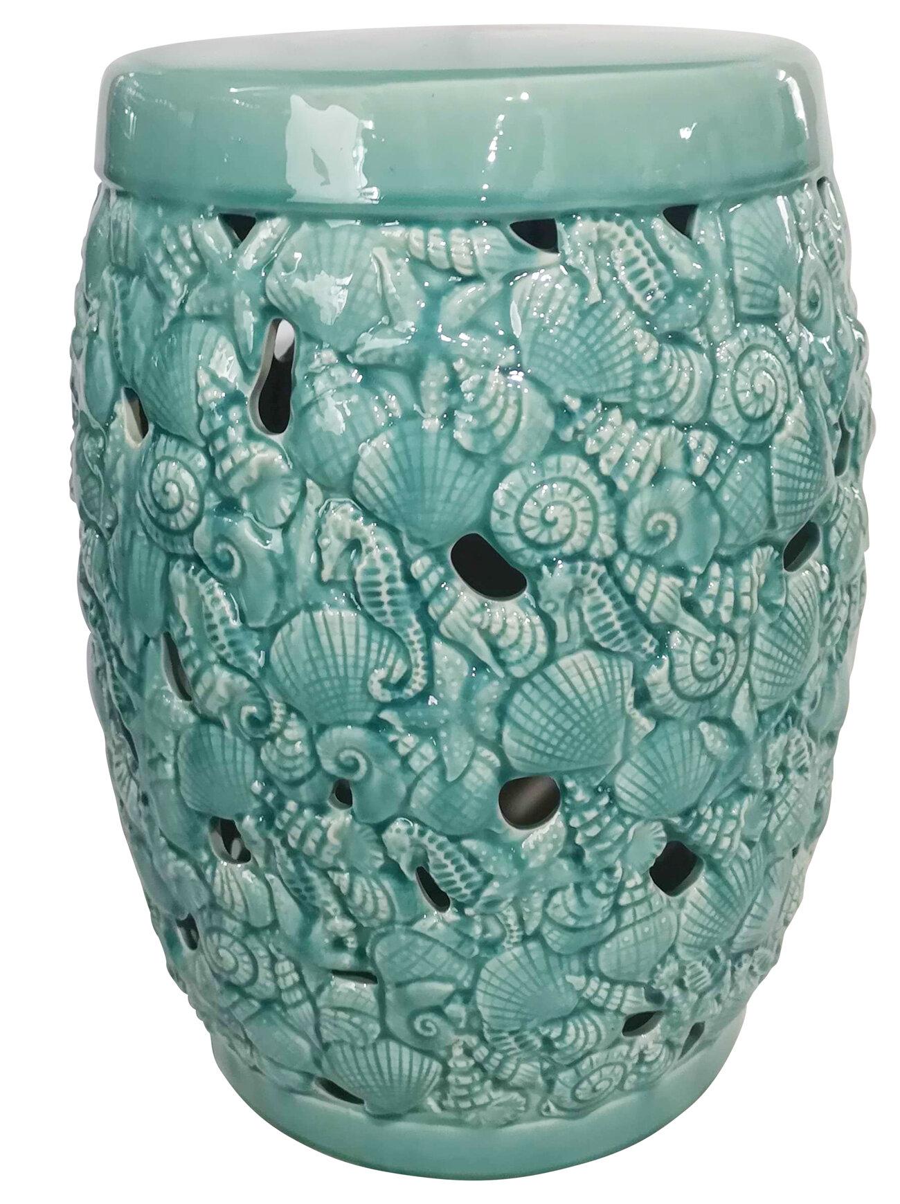 Studebaker Ceramic Fan Design Garden Stool Intended For Oakside Ceramic Garden Stools (View 6 of 25)