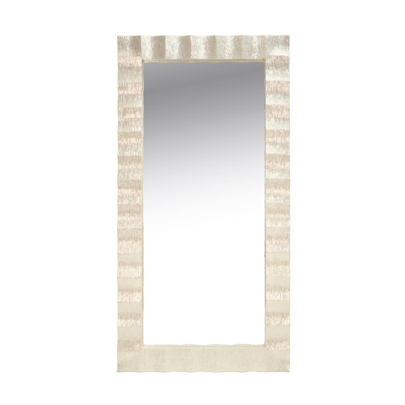 Swanson Scalloped Floor Mirror Regarding Swanson Ceramic Garden Stools (View 25 of 25)