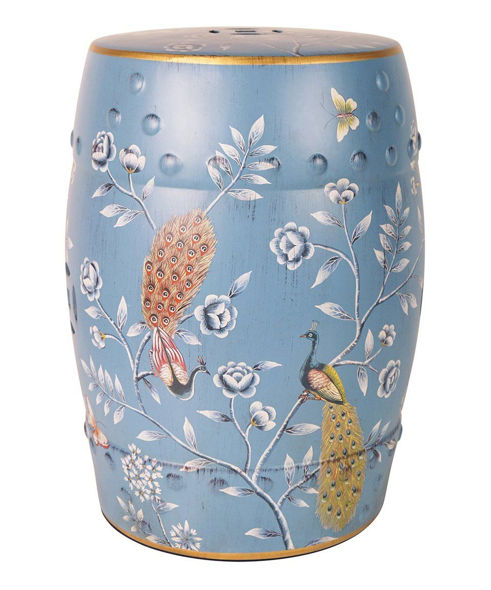 Take A Look At This Blue Peacock Ceramic Garden Stool Today Inside Lavin Ceramic Garden Stools (View 11 of 25)