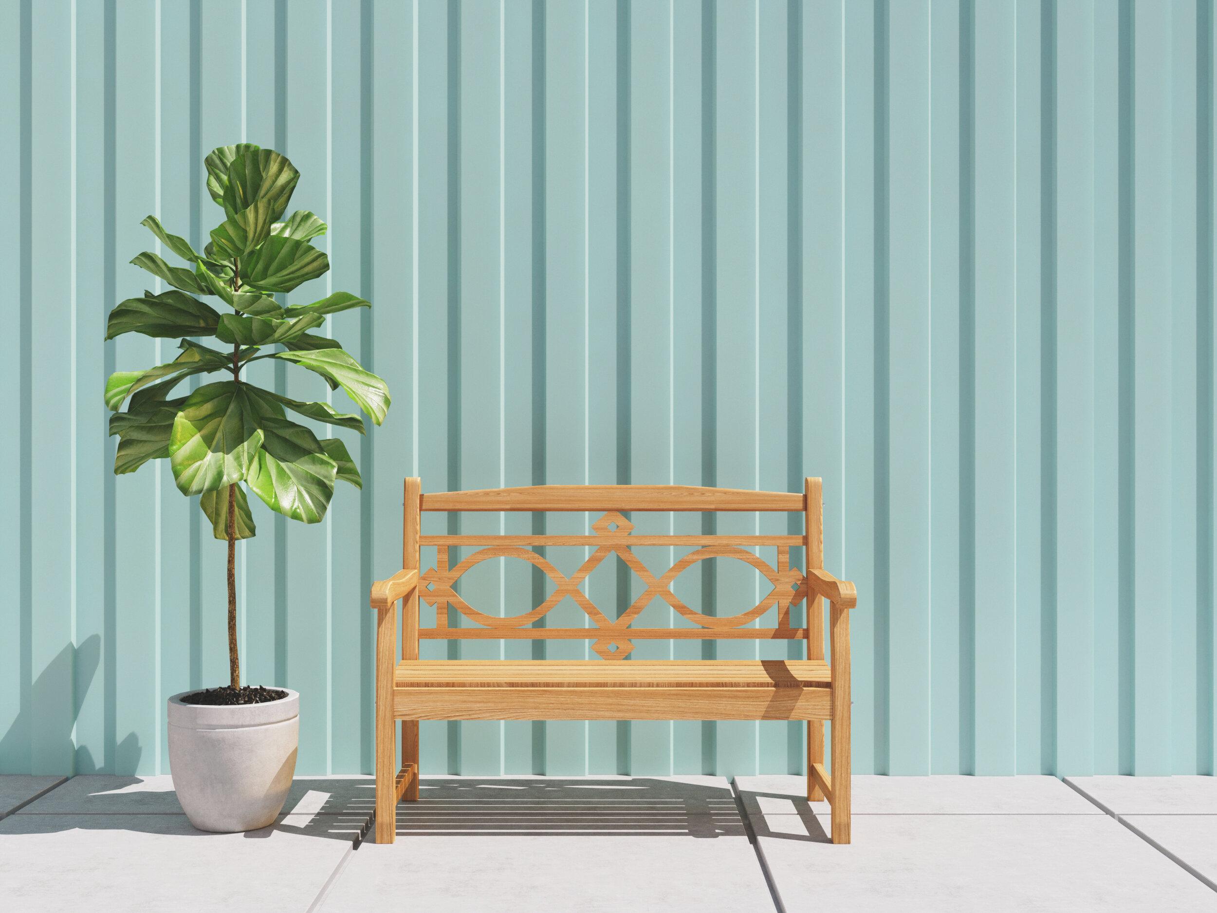 Teak Garden Bench With Regard To Alfon Wood Garden Benches (View 8 of 25)
