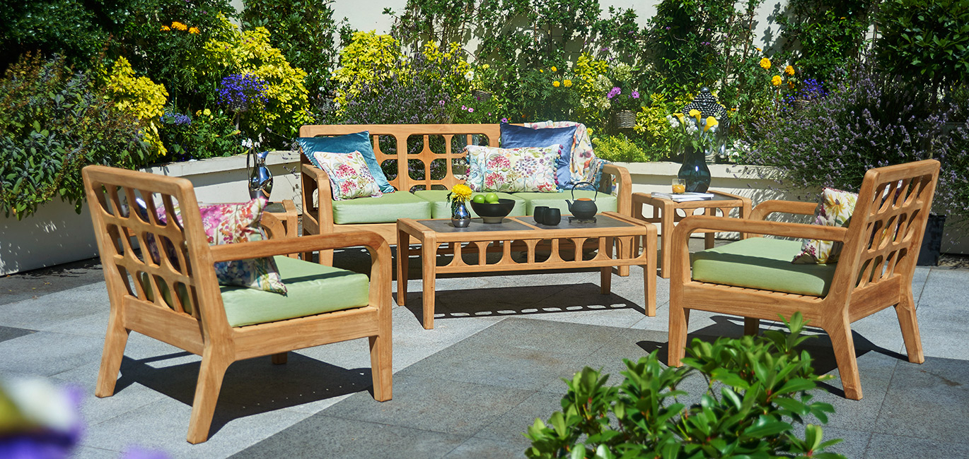 Teak Garden Furniture – Benches, Tables & Chairs | Bridgman Throughout Hampstead Teak Garden Benches (View 16 of 25)