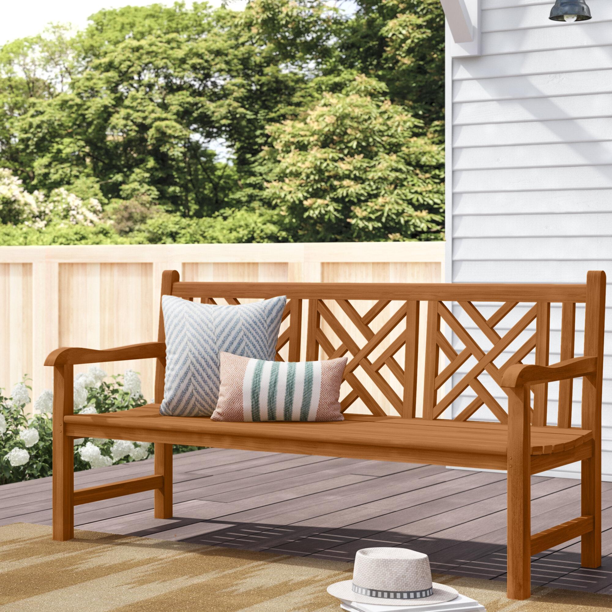 Teak Outdoor Benches You'Ll Love In 2020 | Wayfair In Coleen Outdoor Teak Garden Benches (View 3 of 25)