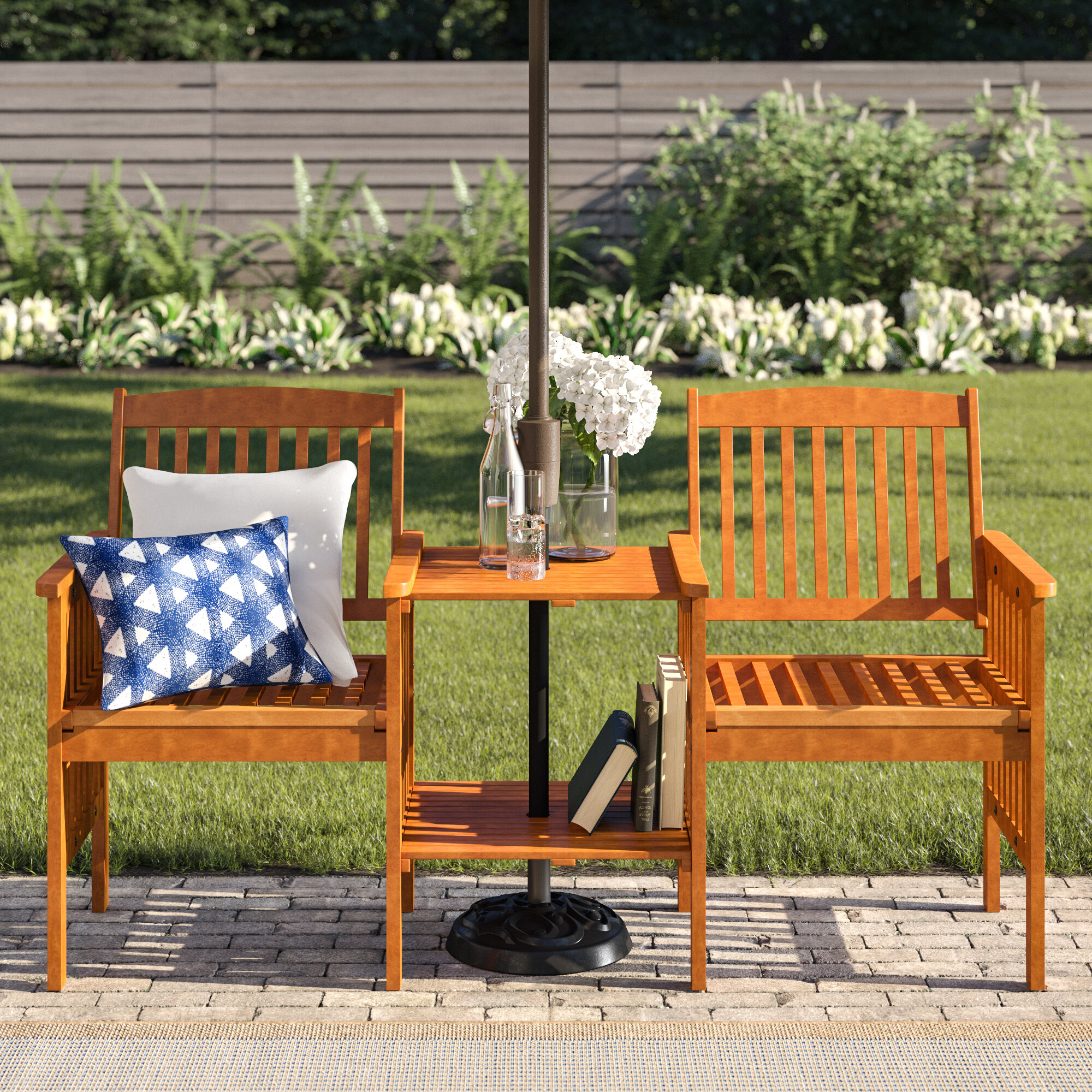 Tete A Tete Outdoor Benches You'Ll Love In 2020 | Wayfair In Wicker Tete A Tete Benches (View 9 of 25)
