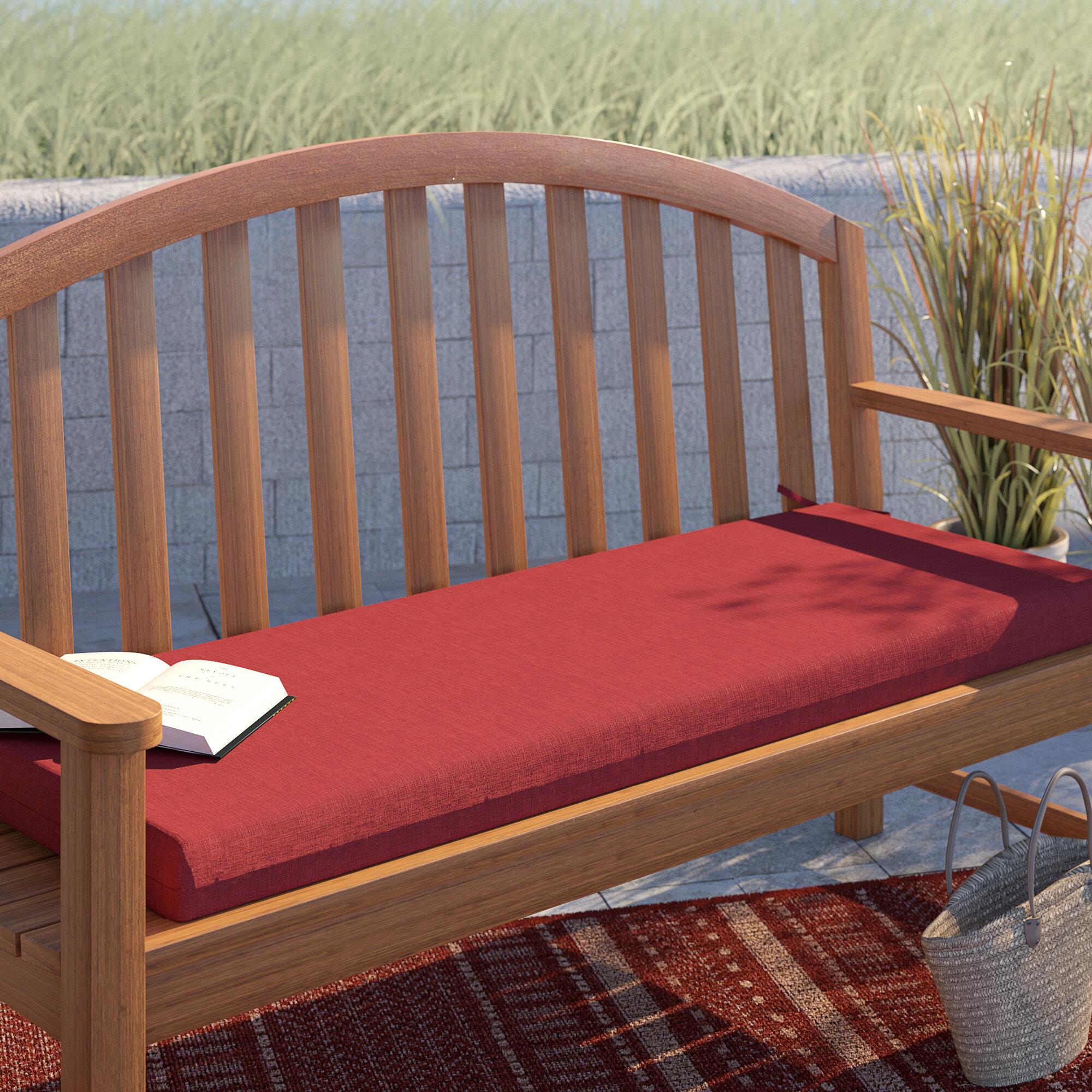 Texture Outdoor Bench Cushion With Regard To Elsner Acacia Garden Benches (View 22 of 25)