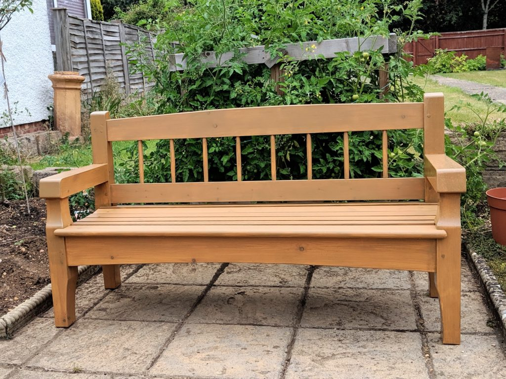 The Bench In My Garden – Paul Sellers' Blog Pertaining To Pauls Steel Garden Benches (View 3 of 25)