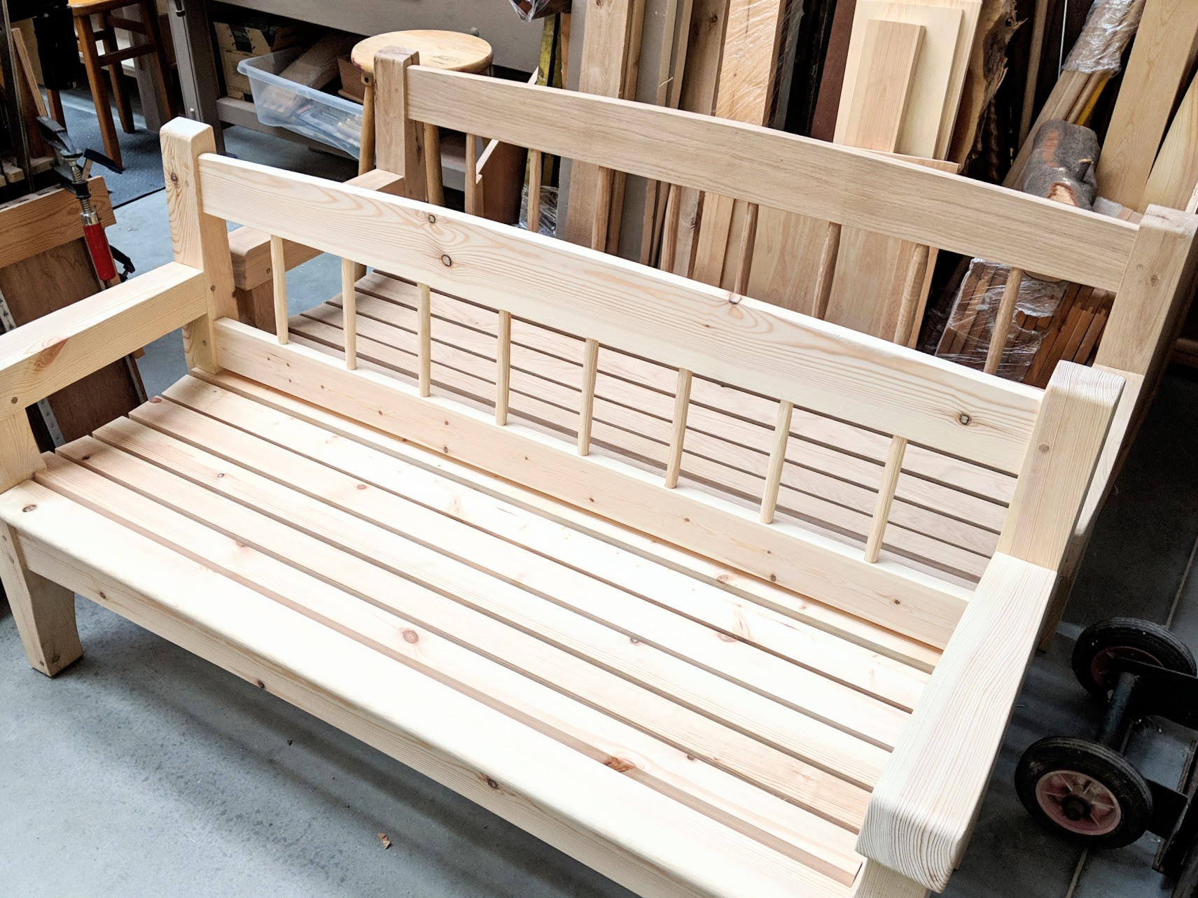 The Bench In My Garden – Paul Sellers' Blog With Pauls Steel Garden Benches (View 2 of 25)