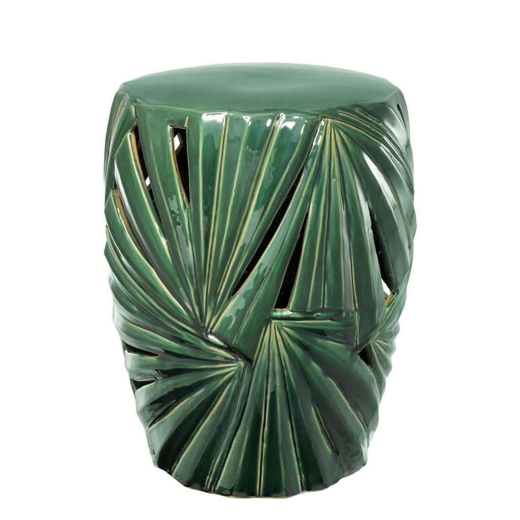This Green Side Table Made Of Ceramic Drum In A Antique Throughout Oakside Ceramic Garden Stools (View 14 of 25)