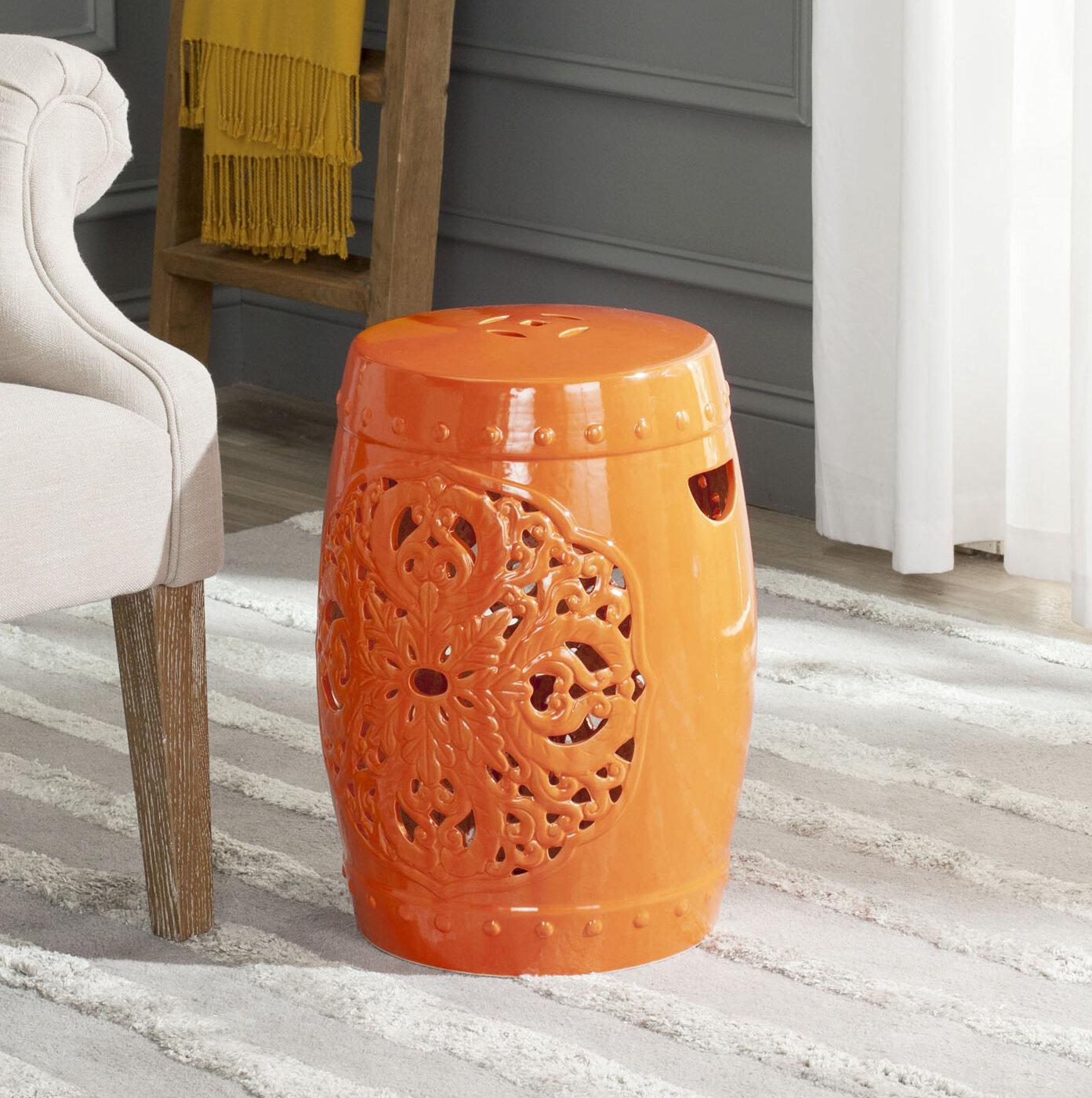 Three Posts Nagle Ceramic Garden Stool Throughout Murphy Ceramic Garden Stools (View 22 of 25)