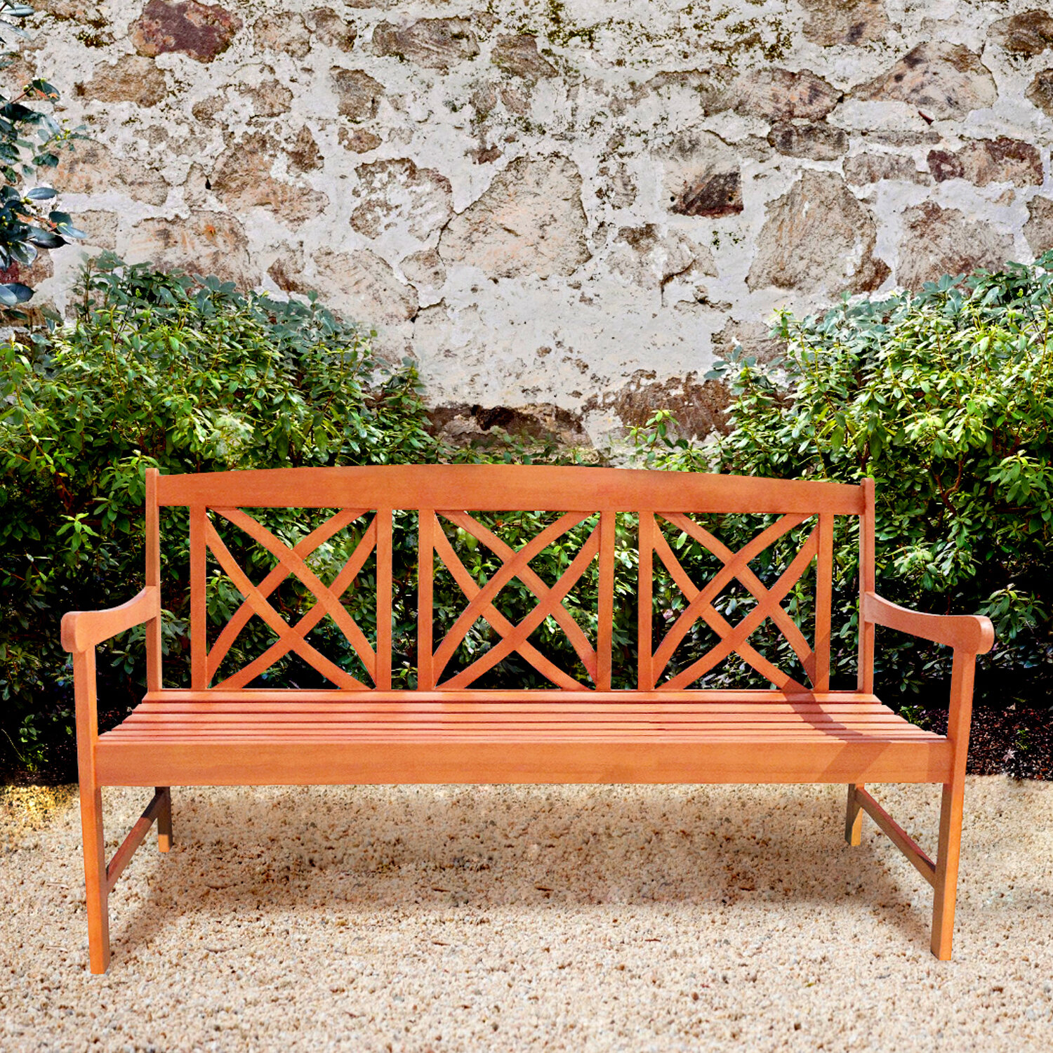 Traditional Outdoor Benches You'Ll Love In 2020 | Wayfair Intended For Brecken Teak Garden Benches (View 11 of 25)