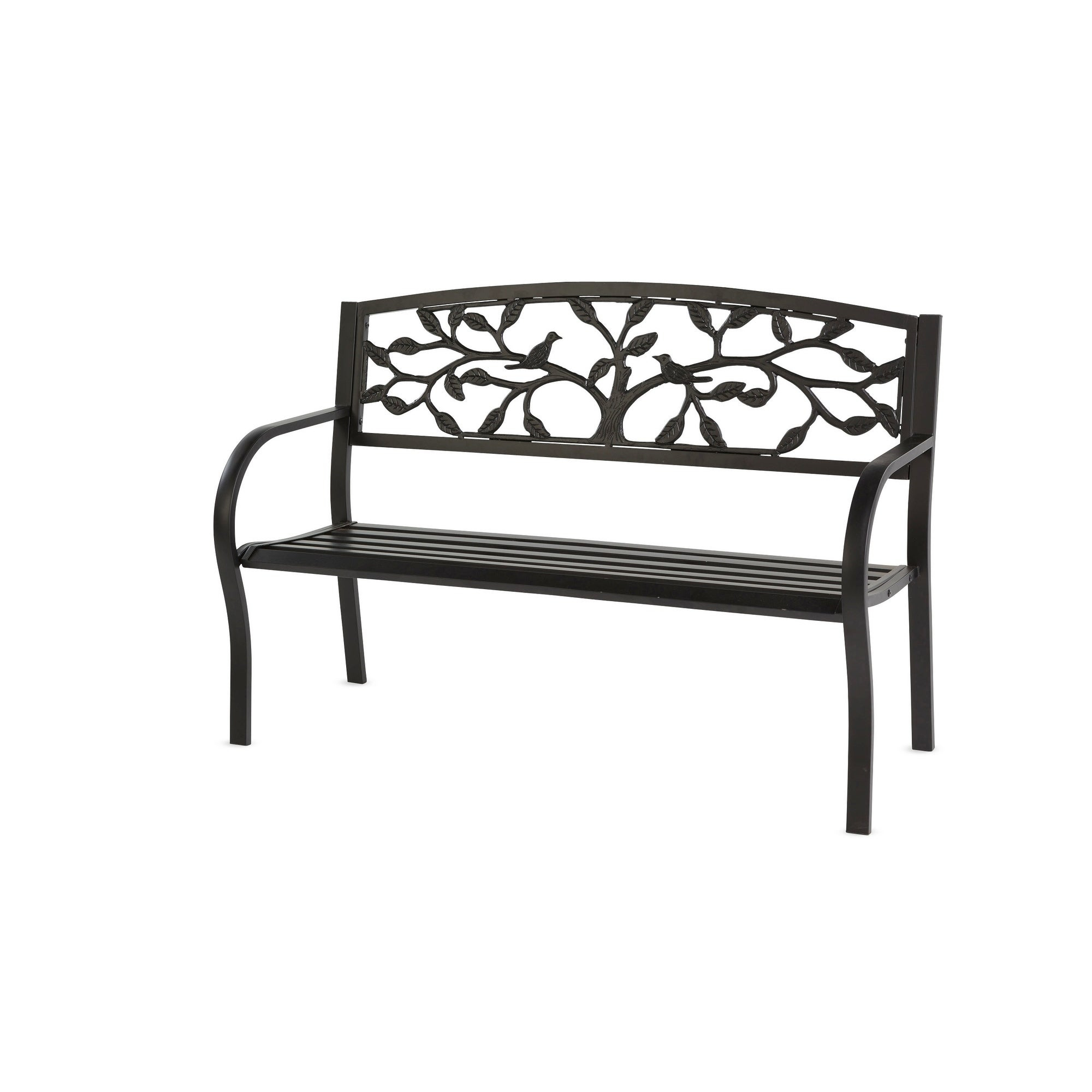 Tree Of Life Metal Garden Bench Black For Blooming Iron Garden Benches (View 18 of 25)