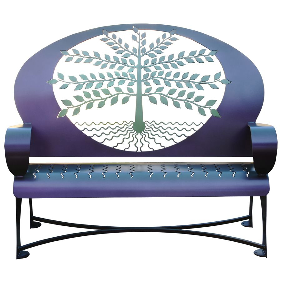 Tree Of Life Metal Garden Bench *New* Within Tree Of Life Iron Garden Benches (View 5 of 25)