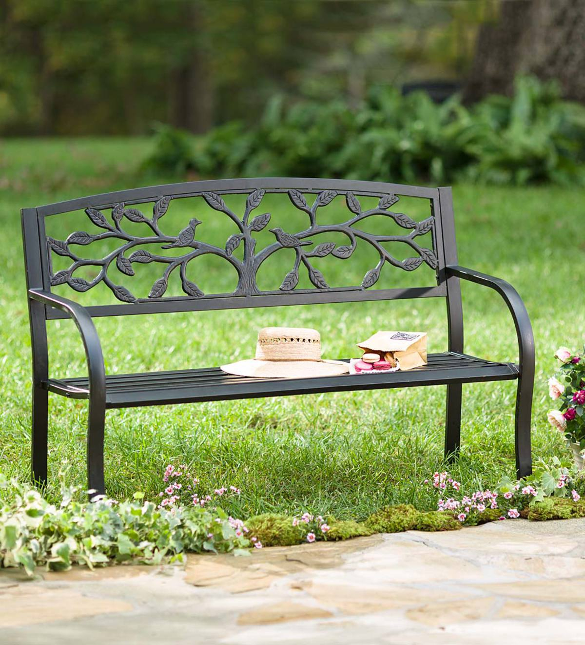 Featured Image of Tree Of Life Iron Garden Benches