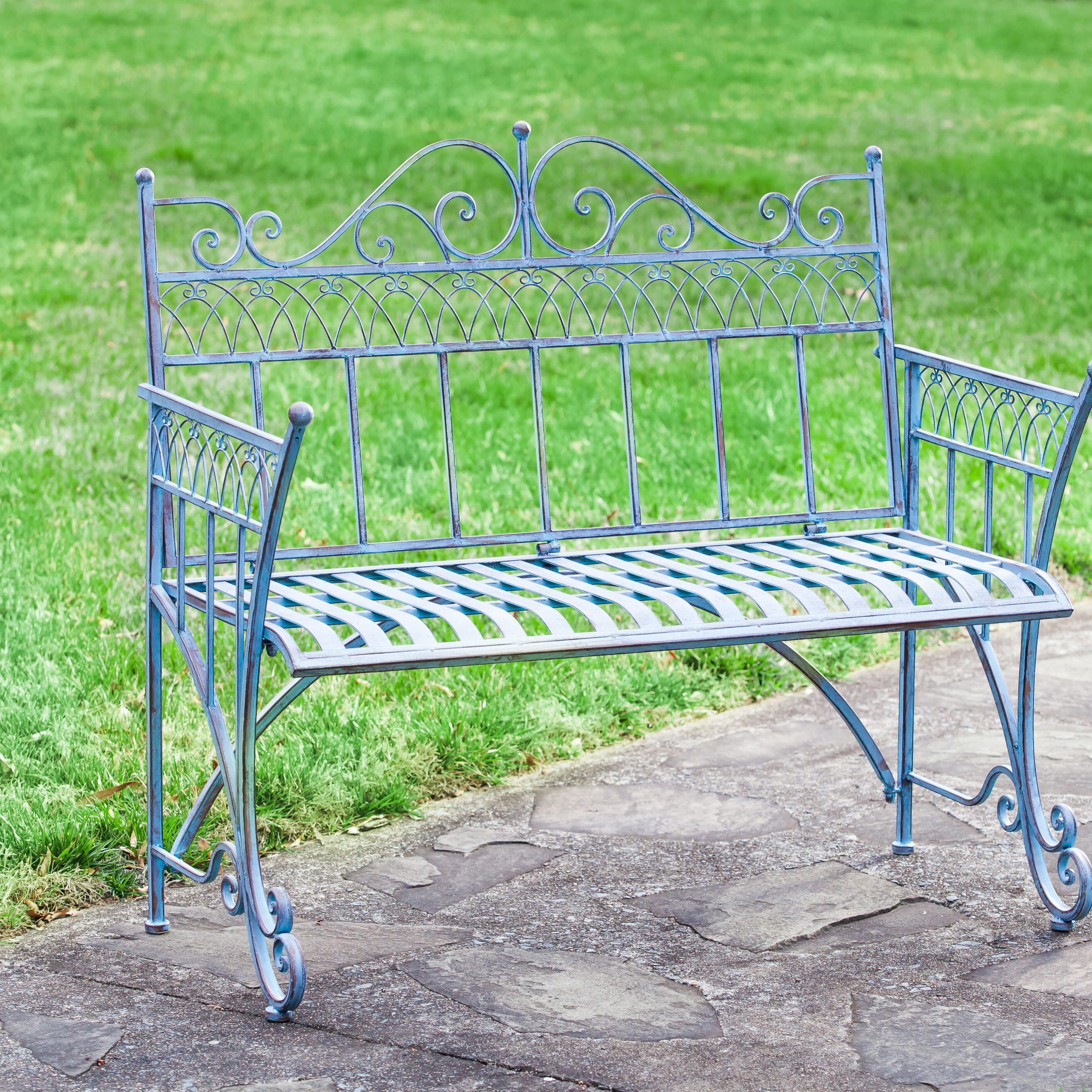 Trudy Victorian Metal Garden Bench Intended For Heslin Steel Park Benches (View 15 of 25)