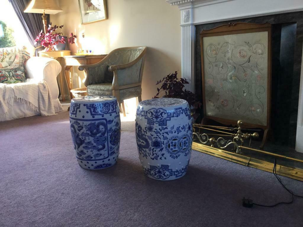 Two Chinese Garden Stools | In East Linton, East Lothian | Gumtree For Dragon Garden Stools (View 26 of 26)