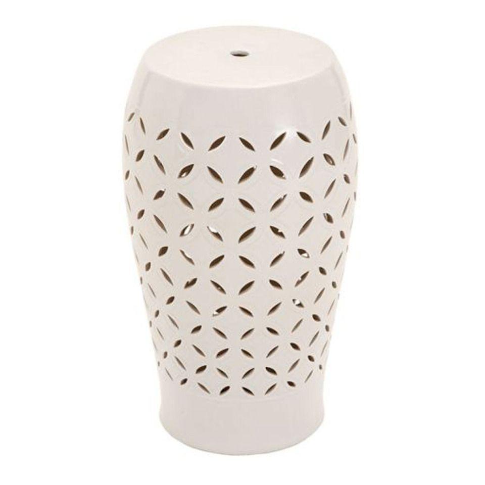 "Uma 20"" Ceramic Stool – Beyond The Rack | White Ceramic For Murphy Ceramic Garden Stools (View 15 of 25)"
