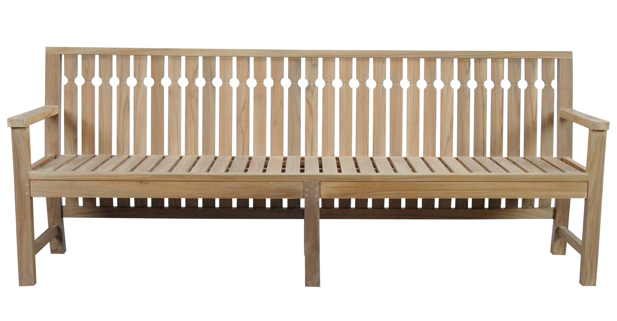 Vasser Long Teak Garden Bench Regarding Hampstead Teak Garden Benches (View 6 of 25)