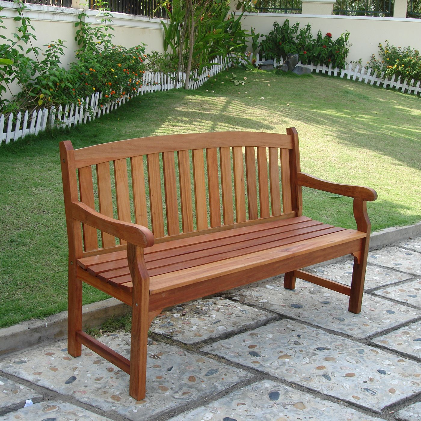 Vifah V275 Marley Two Seater Bench – Outdoor Living Showroom With Wallie Teak Garden Benches (View 10 of 25)