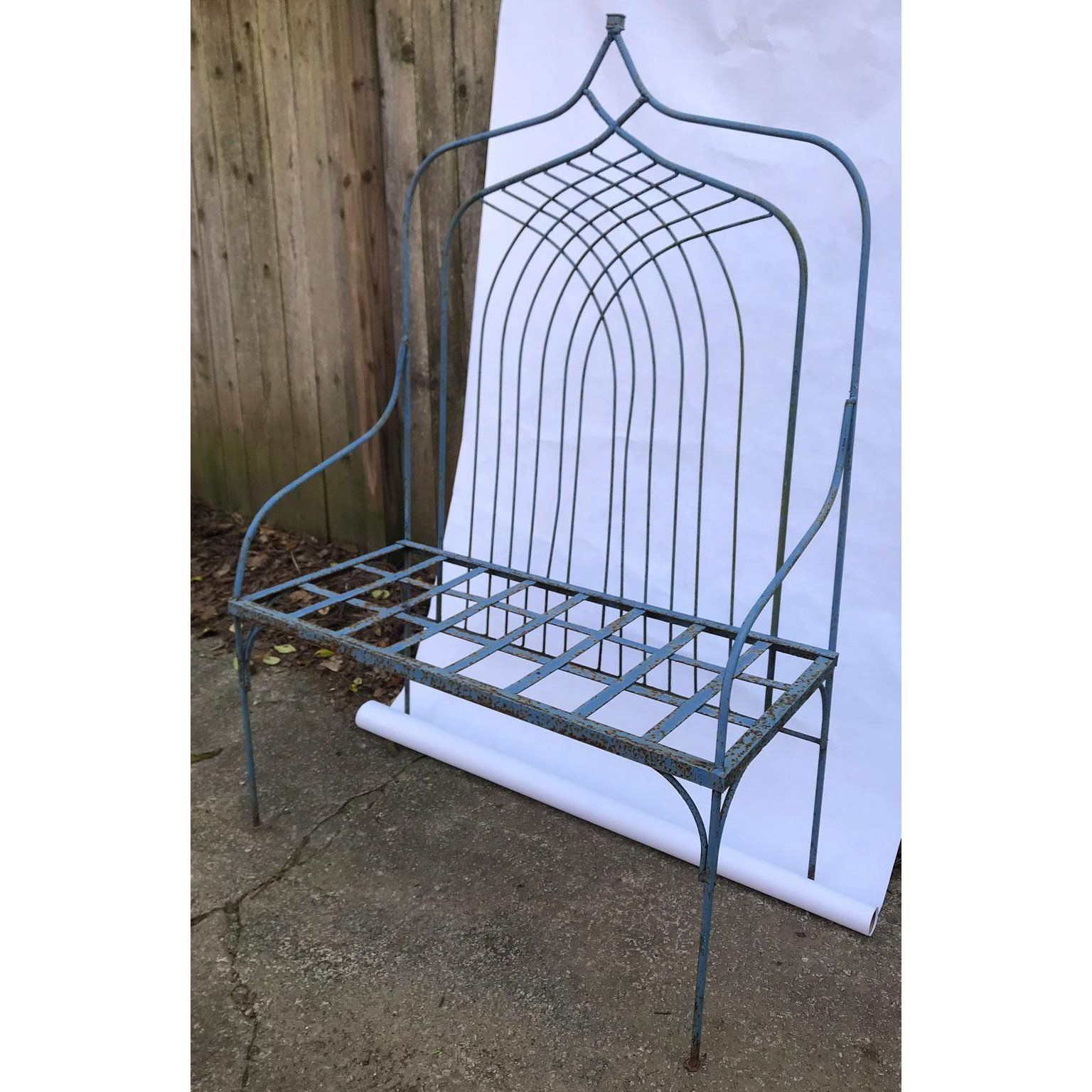 Vintage French Garden Bench For Sale – Image 4 Of 12 For Cavin Garden Benches (View 5 of 25)