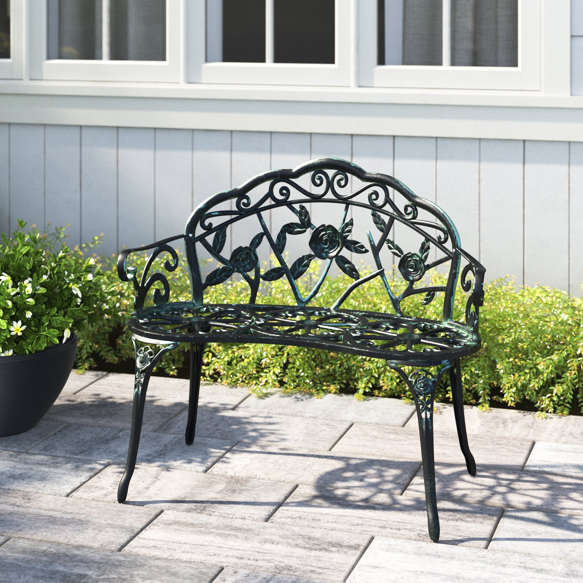 Wendy Metal Garden Bench Regarding Caryn Colored Butterflies Metal Garden Benches (View 5 of 25)
