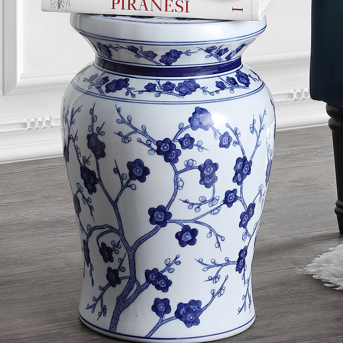 Featured Image of Wiese Cherry Blossom Ceramic Garden Stools