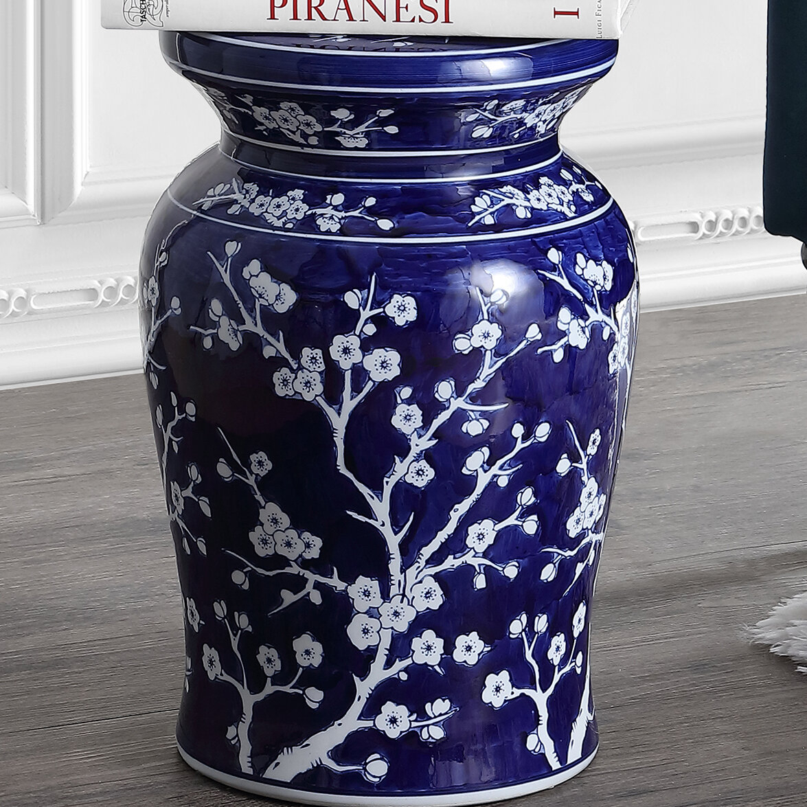 Williar Cherry Blossom Ceramic Garden Stool With Regard To Oakside Ceramic Garden Stools (View 5 of 25)