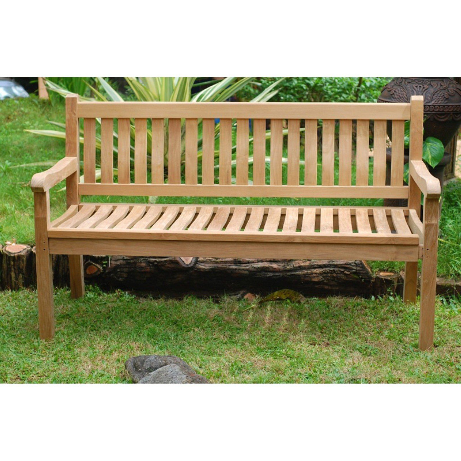 Windsor Teak Furniture Outdoor Bench With Contoured Seat With Hampstead Teak Garden Benches (View 4 of 25)