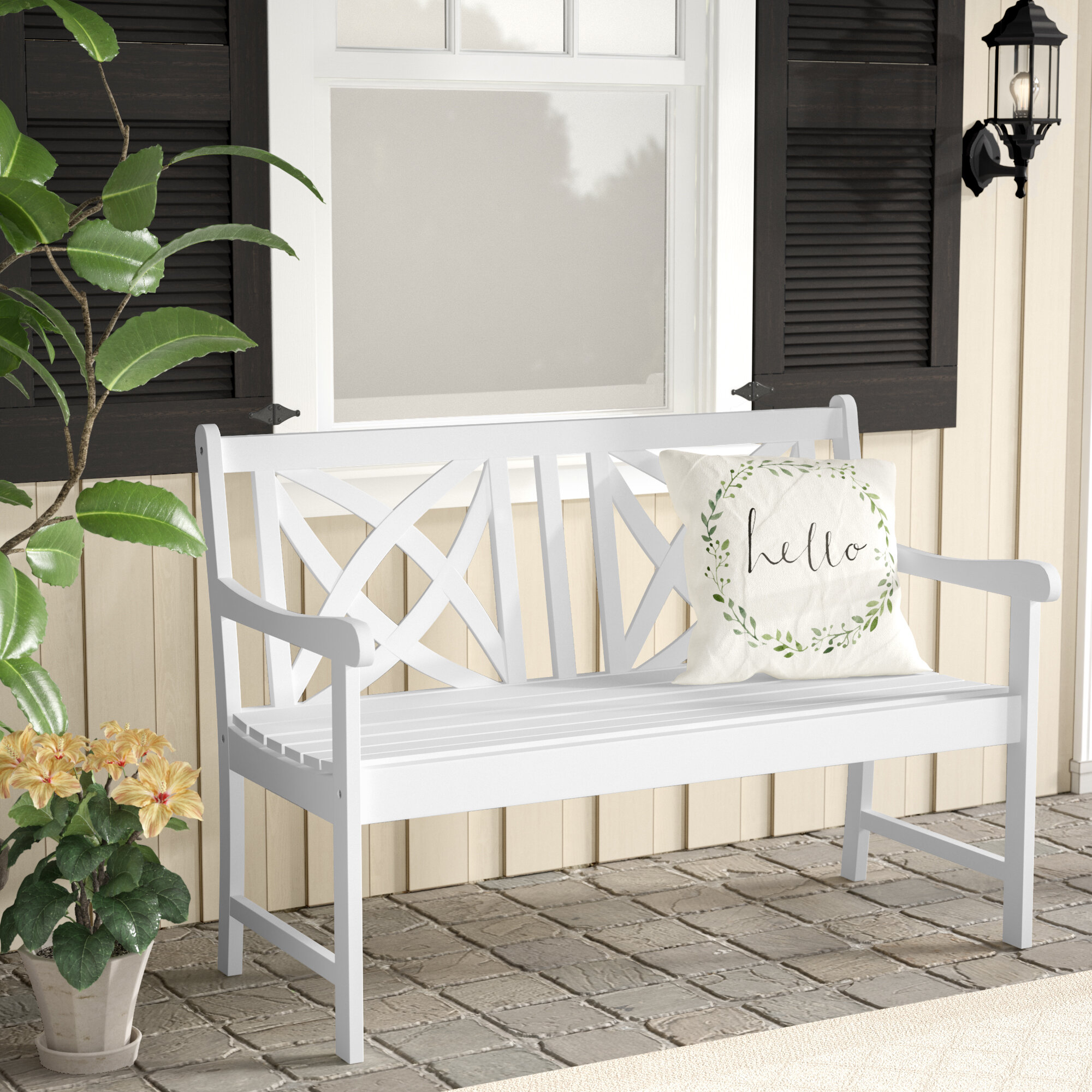 With Arms Outdoor Benches You'Ll Love In 2020 | Wayfair With Regard To Krystal Ergonomic Metal Garden Benches (View 10 of 25)