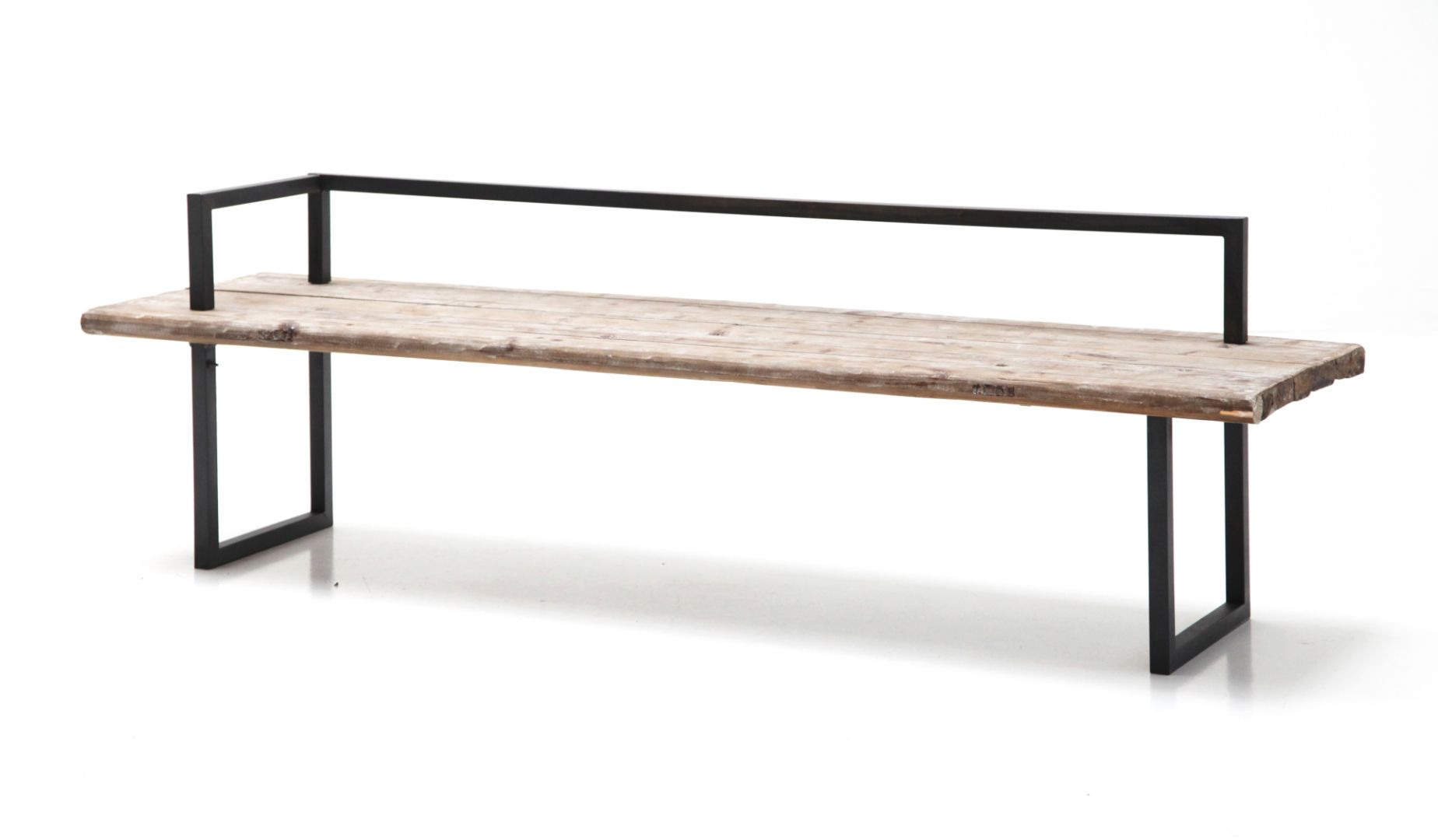 Wood And Iron Bench | Perch Decor | Iron Bench, Bench Within Ossu Iron Picnic Benches (View 7 of 25)