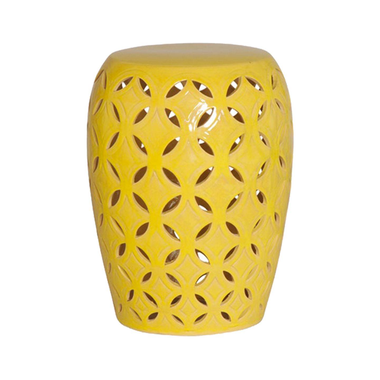 Yellow Ceramic Patio Stool With Jadiel Ceramic Garden Stools (View 25 of 25)
