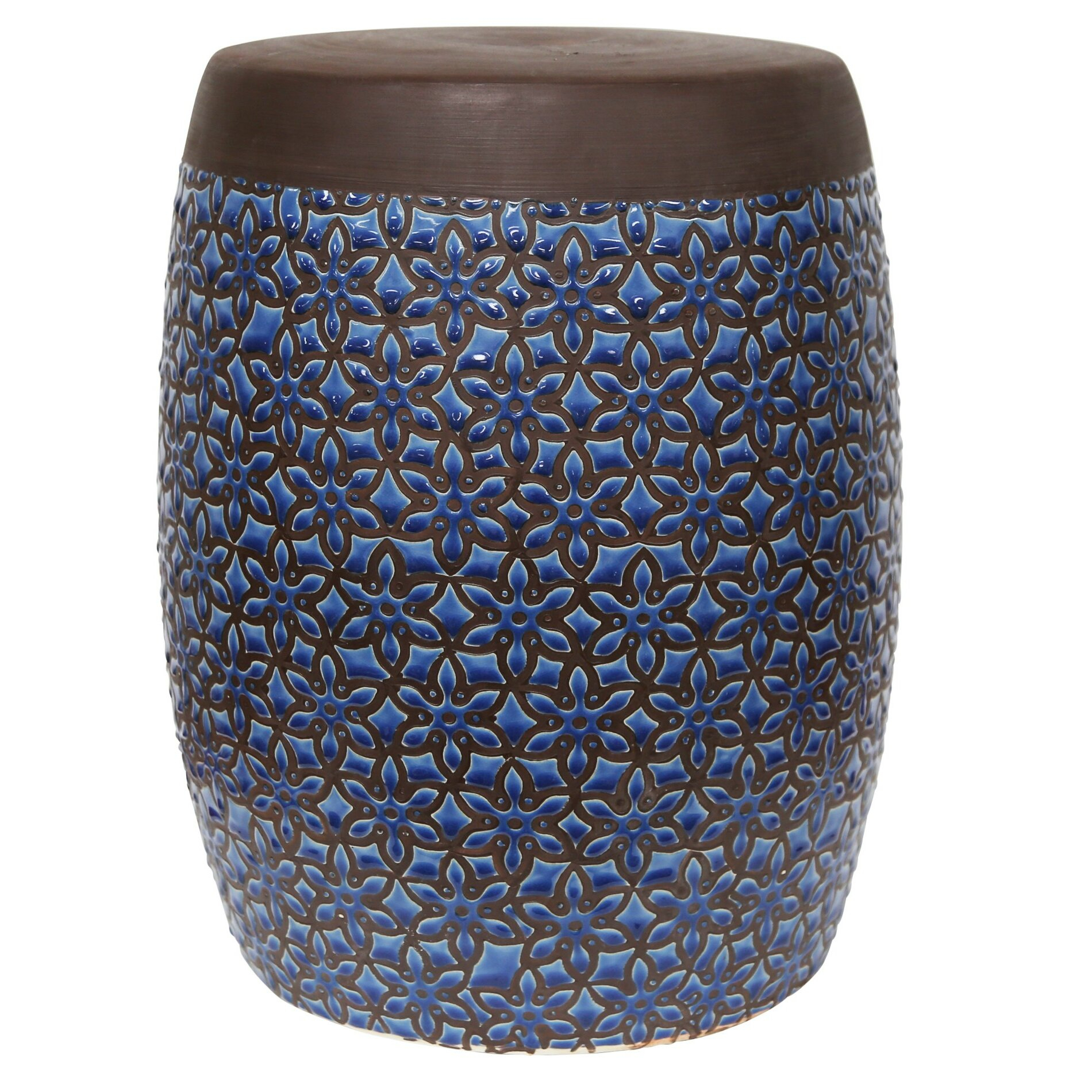 Zabel Ceramic Garden Stool Within Bracey Garden Stools (View 7 of 25)