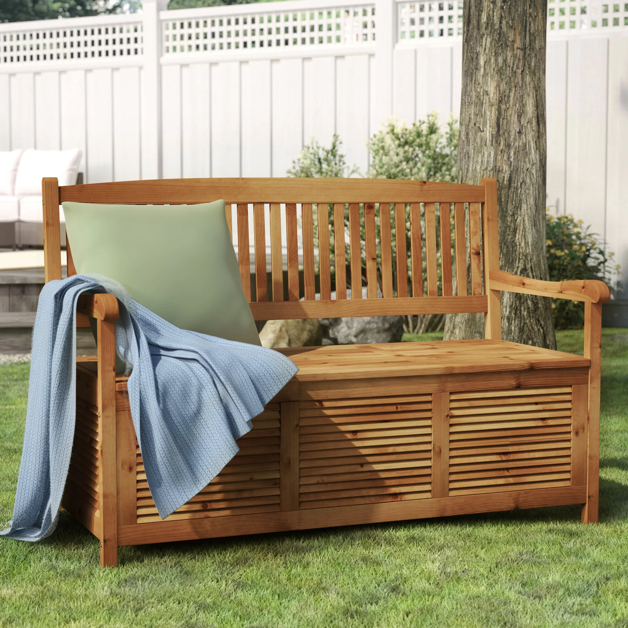 Zephyrine Patio Dining Wooden Picnic Bench Pertaining To Brecken Teak Garden Benches (Photo 9 of 25)
