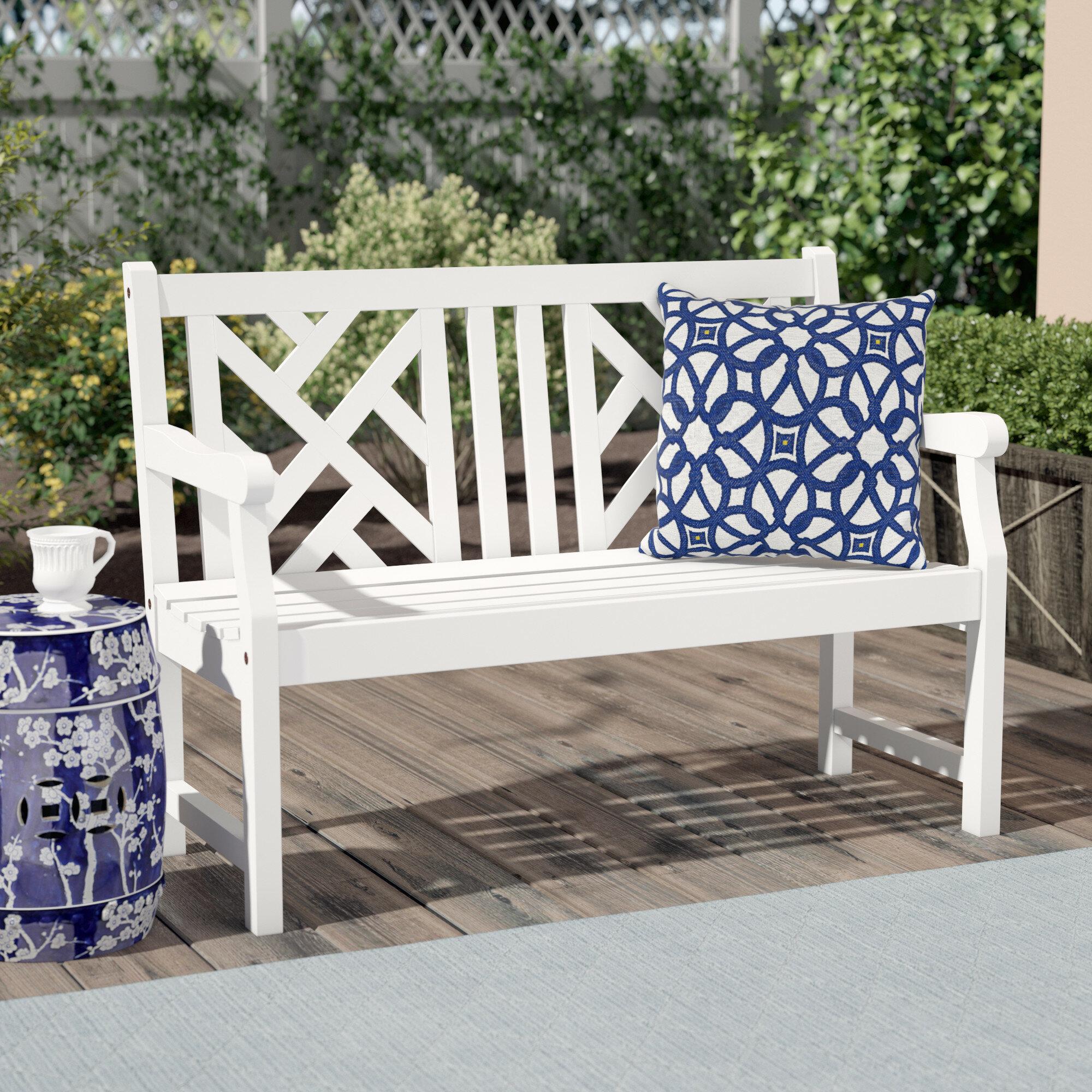 Zephyrine Wooden Garden Bench For Cavin Garden Benches (Photo 3 of 25)