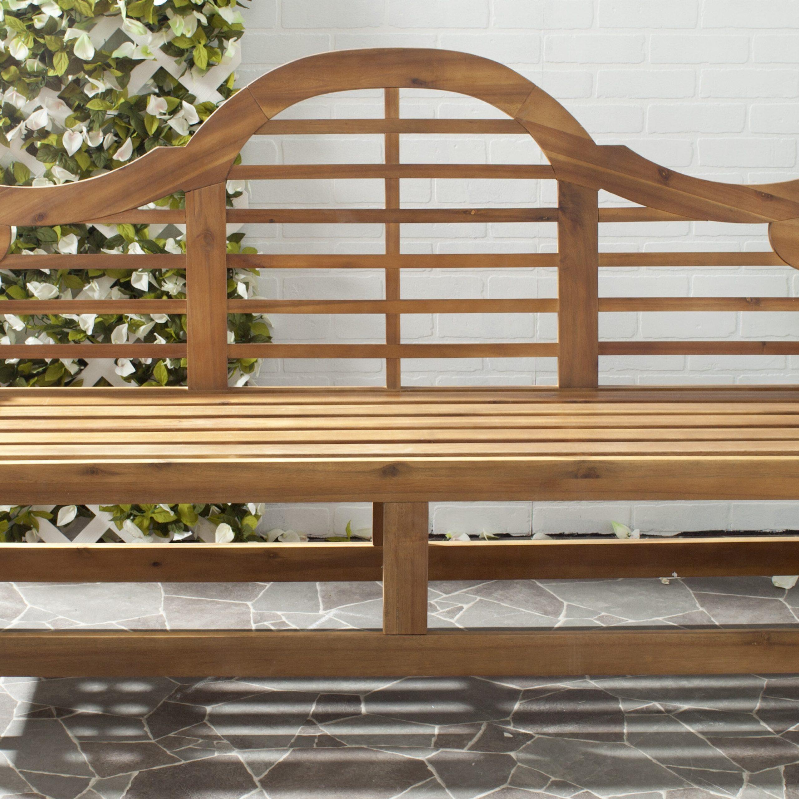 Ziemer Wooden Garden Bench With Leora Wooden Garden Benches (View 25 of 25)