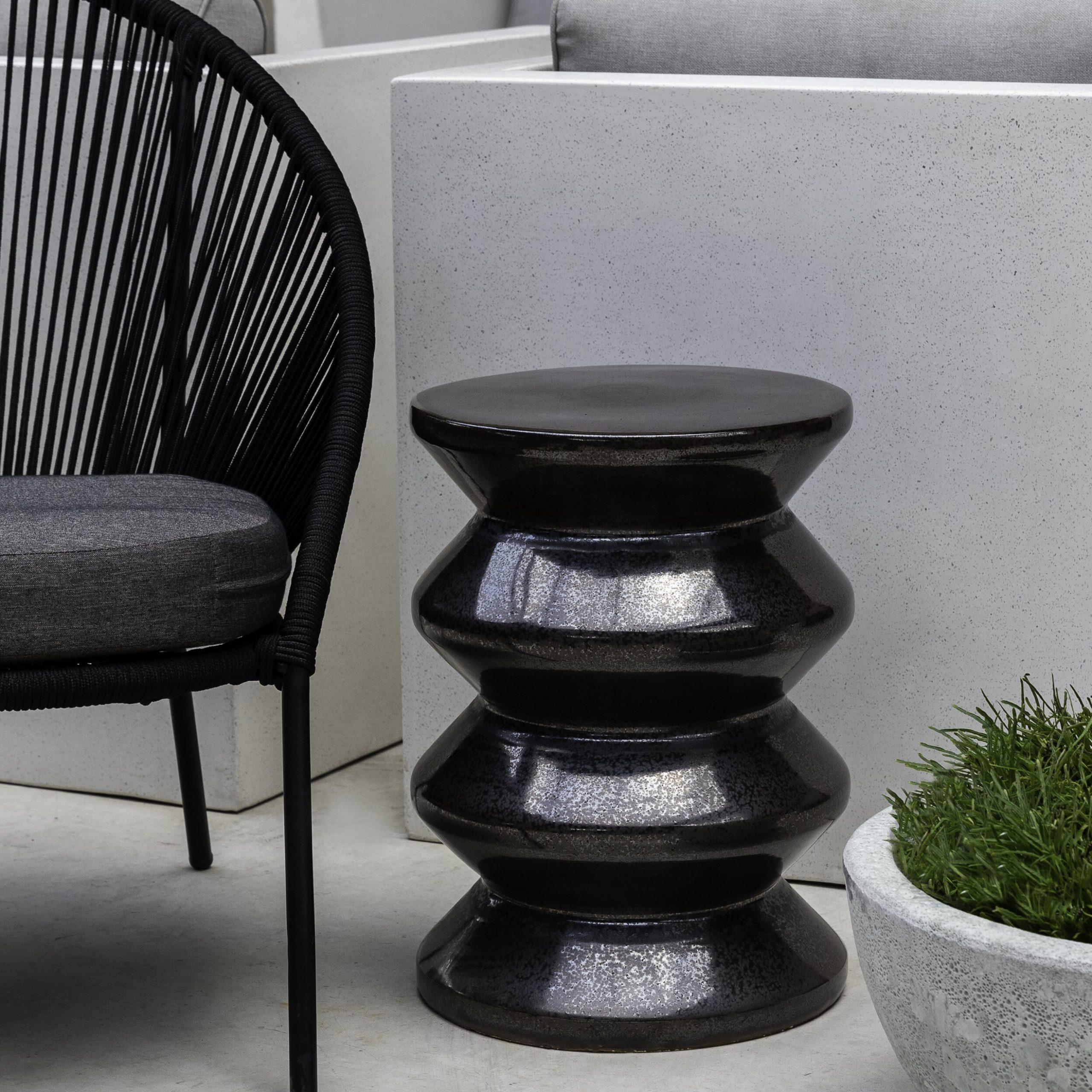 Zigzag Ceramic Garden Stool Within Carmon Ceramic Garden Tool (View 20 of 25)