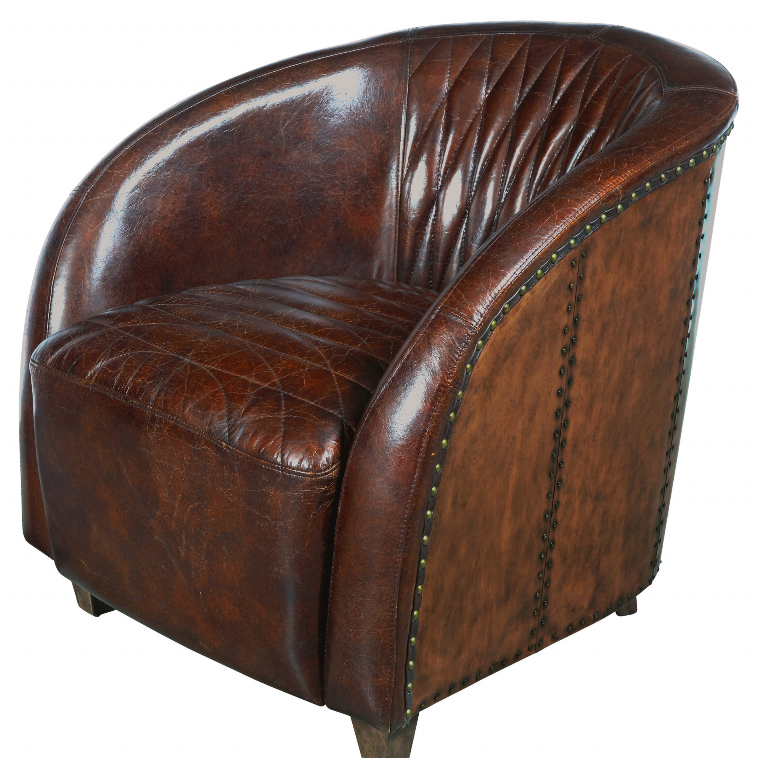 Featured Image of Sheldon Tufted Top Grain Leather Club Chairs