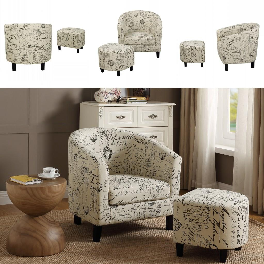 2021 Fast Shipping U Style Accent Retro Living Room Chair For Abbottsmoor Barrel Chair And Ottoman Sets (View 4 of 15)