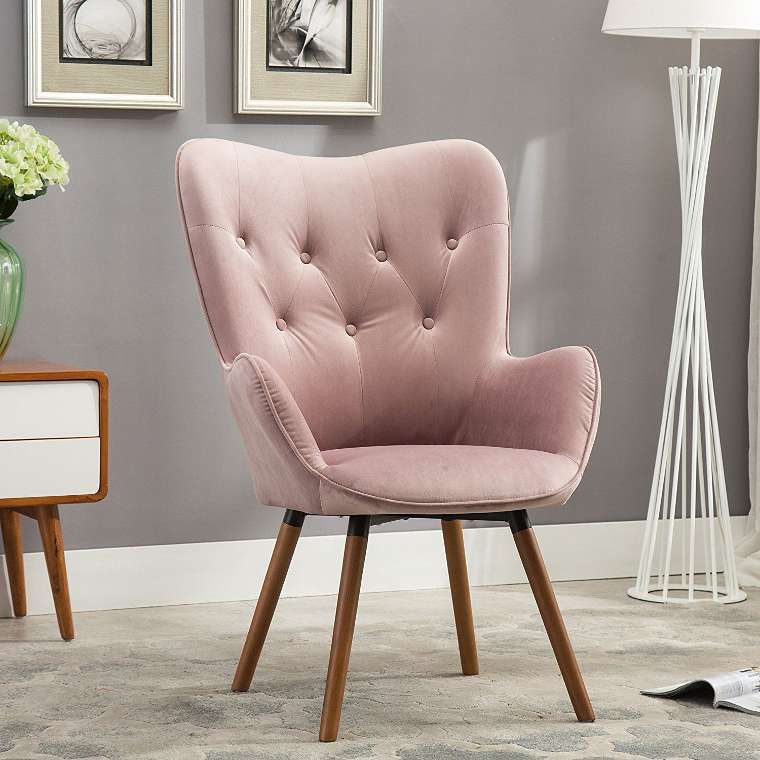 31 Millennial Pink Things You Can Buy On Amazon | Furniture Throughout Focht Armchairs (View 9 of 15)