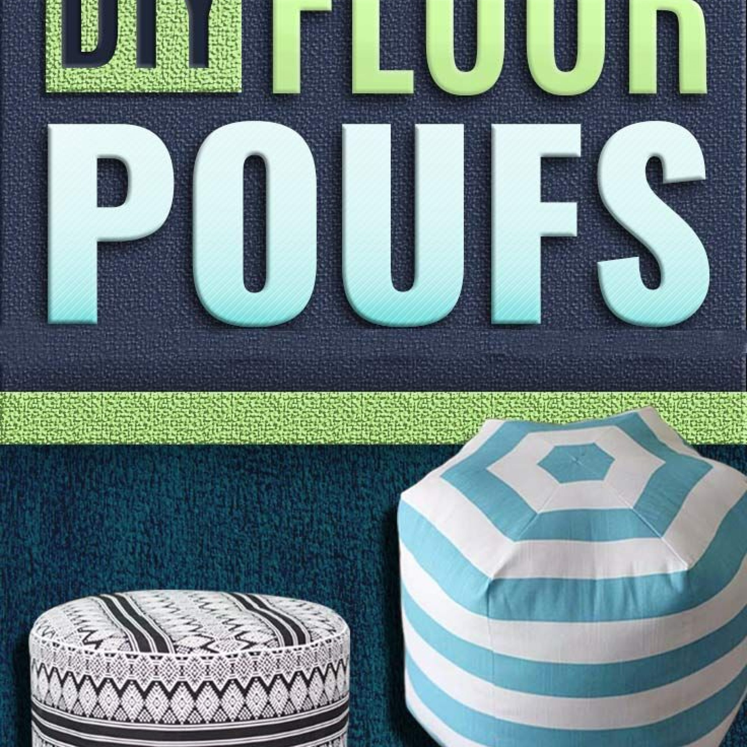 32 Fabulous Diy Poufs Your Living Room Needs Right Now Within Chaithra Barrel Chair And Ottoman Sets (View 7 of 15)