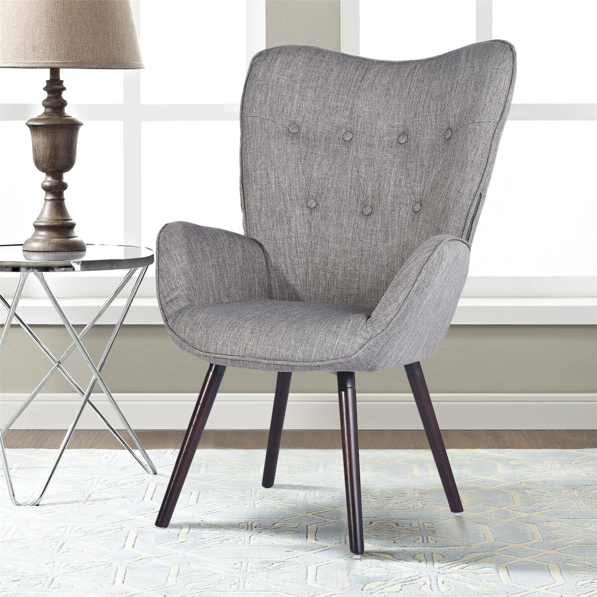 39F Inc Channel Armchair & Reviews | Wayfair Intended For Armory Fabric Armchairs (View 6 of 15)