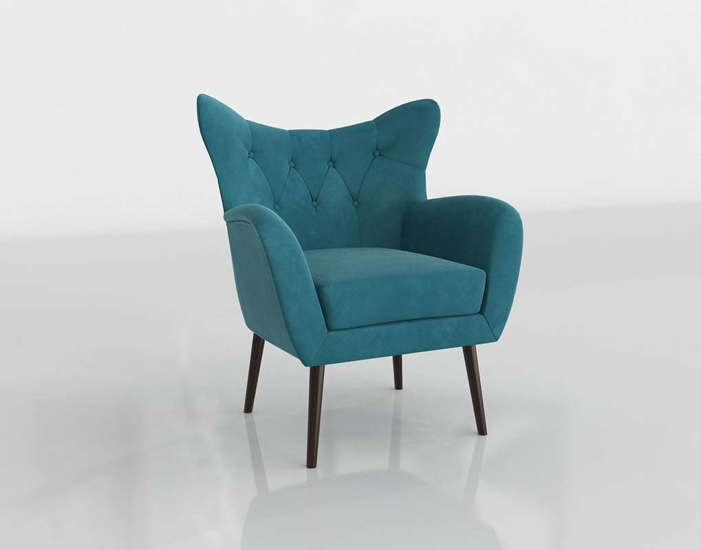 3D Bouck Wingback Chair Wayfair // Glancing Eye In Bouck Wingback Chairs (View 6 of 15)