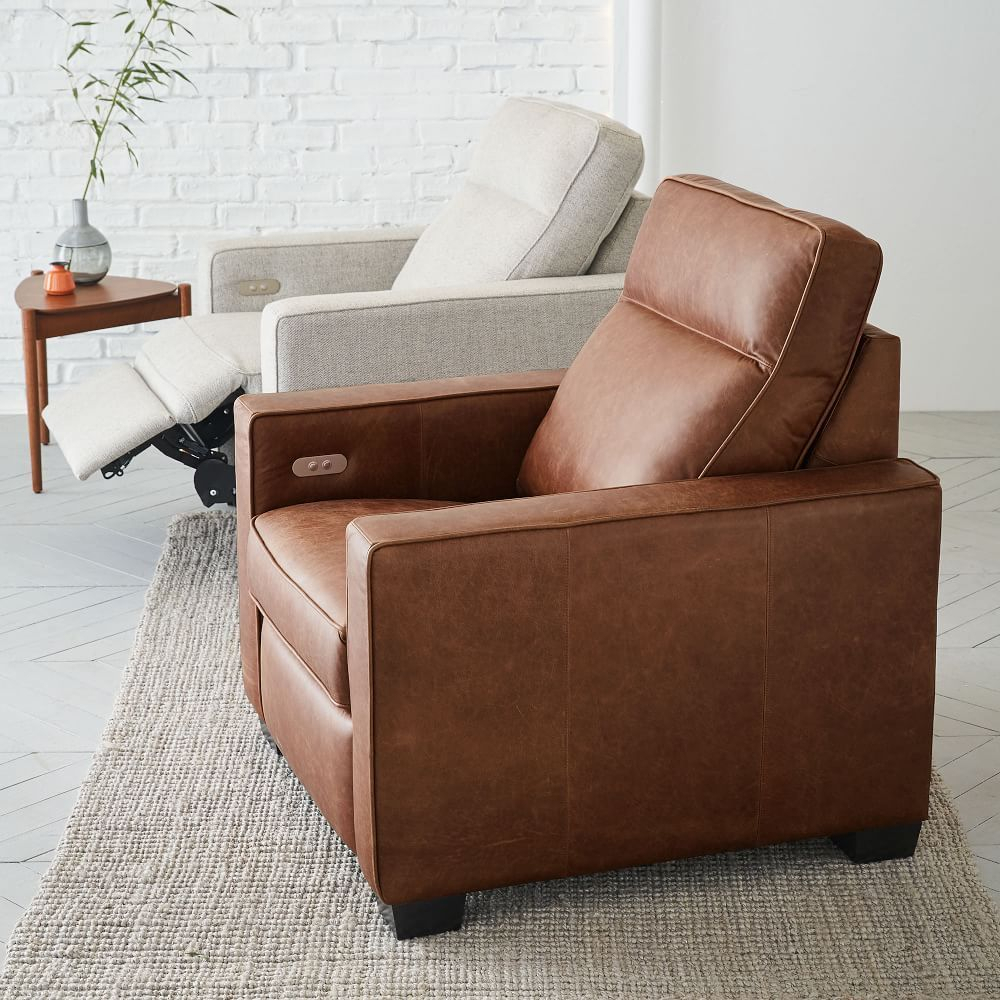 7 Modern Recliner Ideas | Modern Recliner, Leather Chair Inside Broadus Genuine Leather Suede Side Chairs (View 13 of 15)