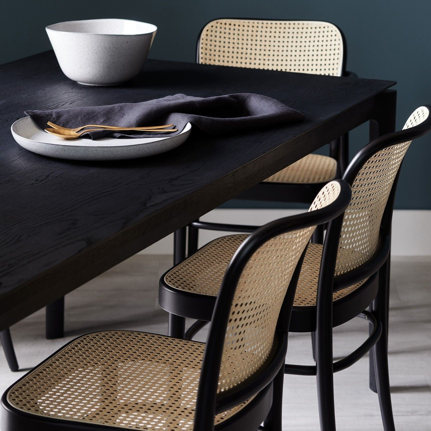 811 Black Side Chair In 2021 | Rattan Dining Chairs, Black Throughout Esmund Side Chairs (Set Of 2) (View 8 of 15)