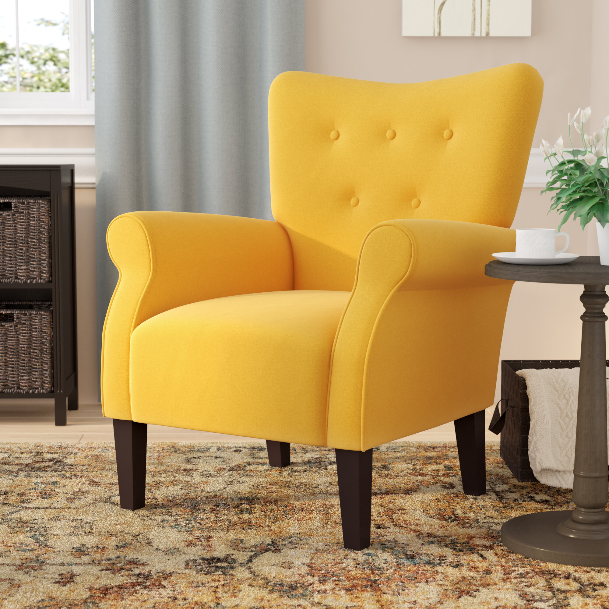 Abbottsmoor Barrel Chair And Ottoman With Ansar Faux Leather Barrel Chairs (View 11 of 15)