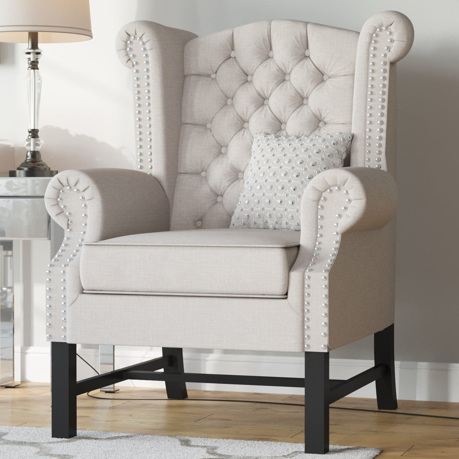 Accent Chairs – Vozeli For Lenaghan Wingback Chairs (View 8 of 15)