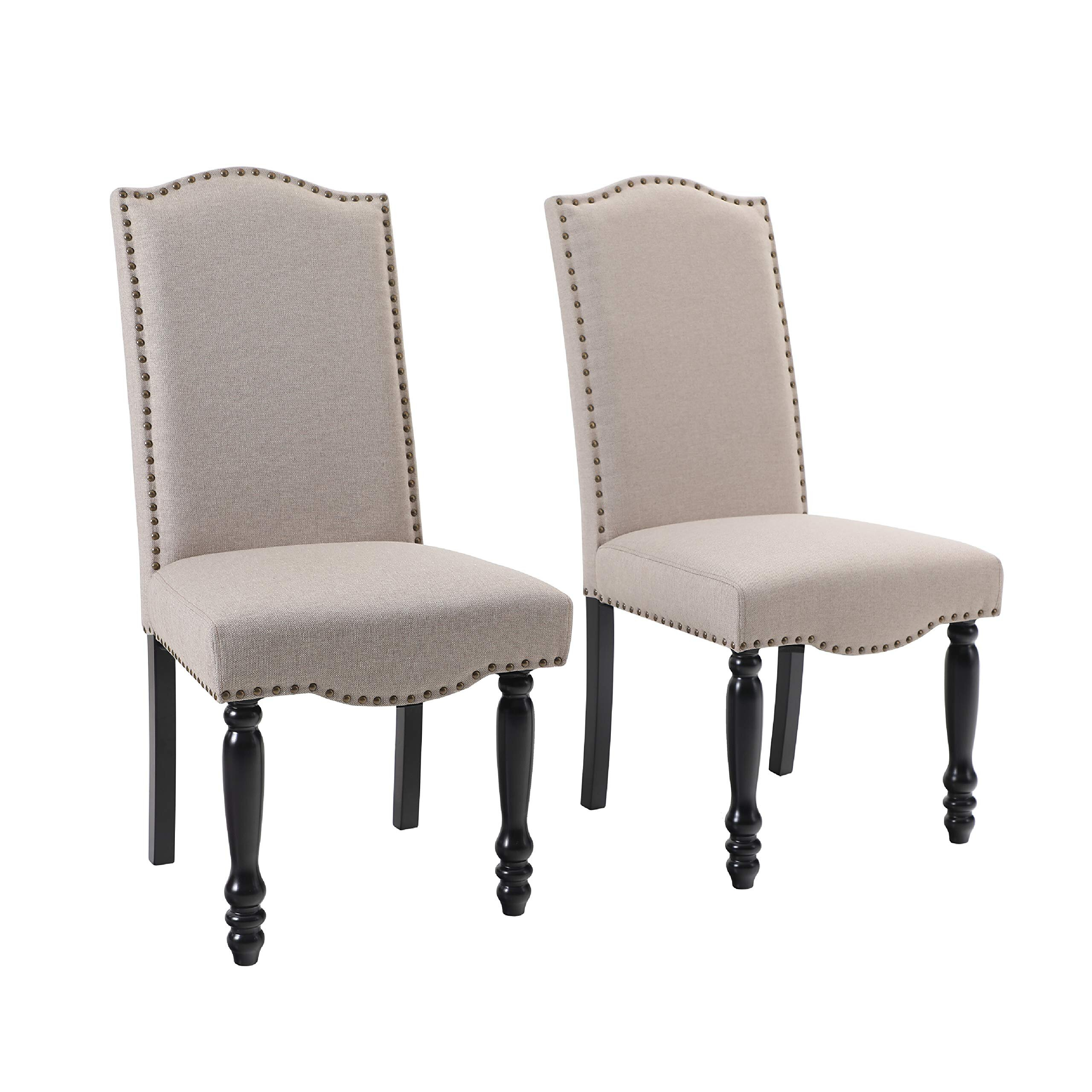 Featured Image of Madison Avenue Tufted Cotton Upholstered Dining Chairs (Set Of 2)